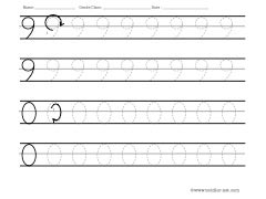 numbers 9 and 0 tracing worksheet