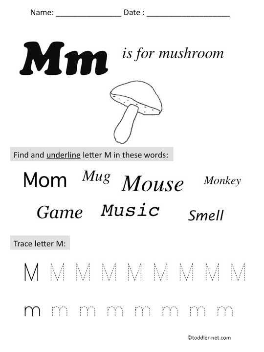 Letter M Preschool Worksheets Free Worksheets Library