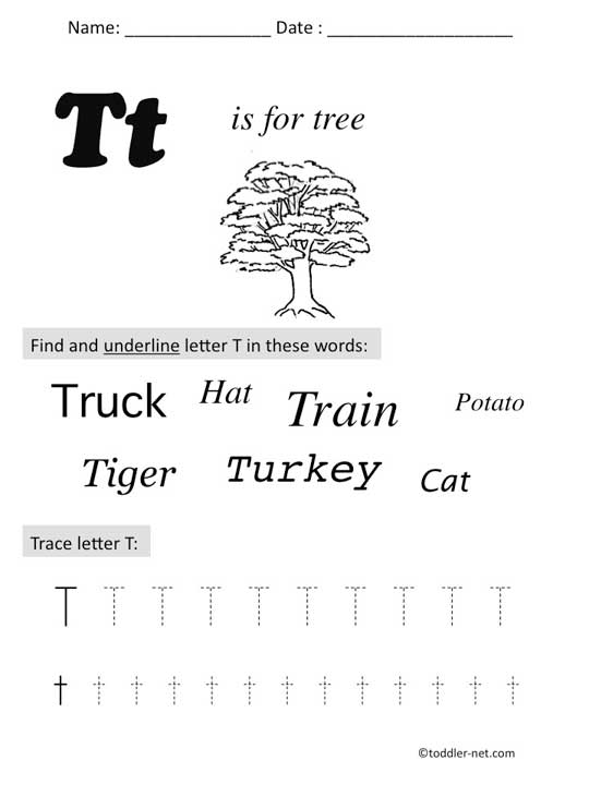 Letter T Worksheets For Kindergarten. Alphabet Worksheets ...