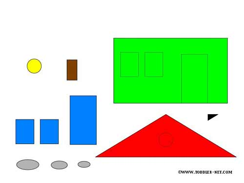 Shapes Activity Sheets  House