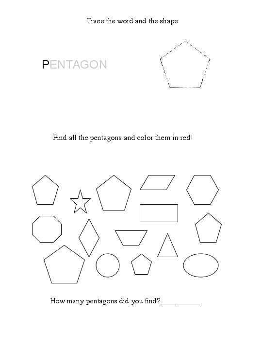 free pentagon worksheet. Black Bedroom Furniture Sets. Home Design Ideas