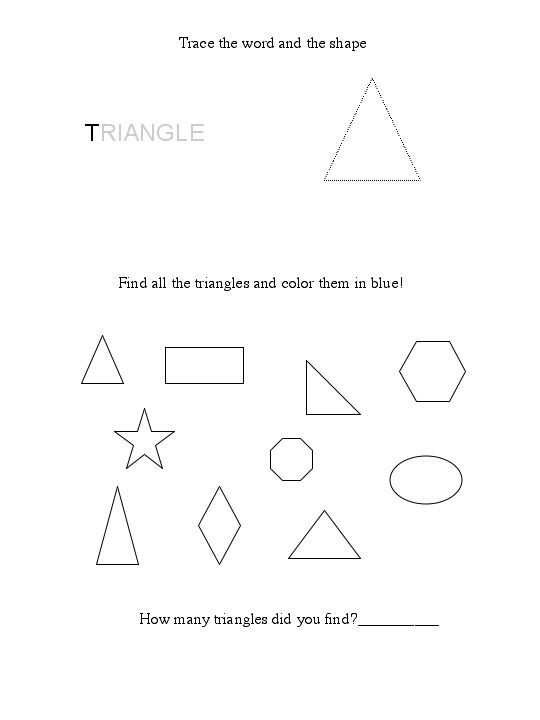 Free Triangle Worksheet – Triangle Worksheets